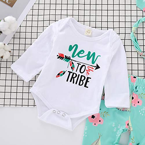 1b0bcf7690b3 Toddler Baby Girls Clothes to Tribe Print Bodysuit Romper + Floral Legging  Pant + Headband Autumn Outfit Set