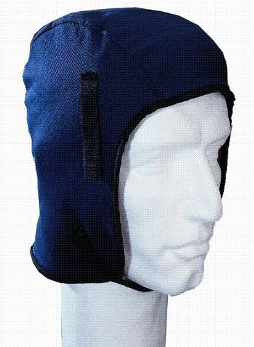 Helmet Liner Long Nape - sheep Lined - Moderate Cold - Navy - One Size Fits All