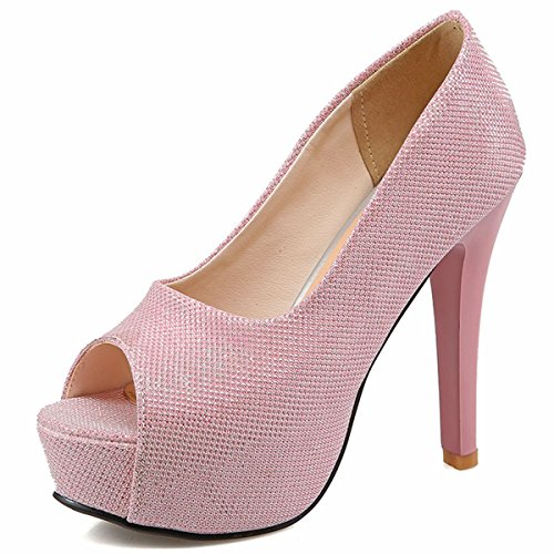 Pumps Evening Stilettos DecoStain Court Peep Shoes High Dress Heels Platform Women's Toe Party Work xxUzqwH0