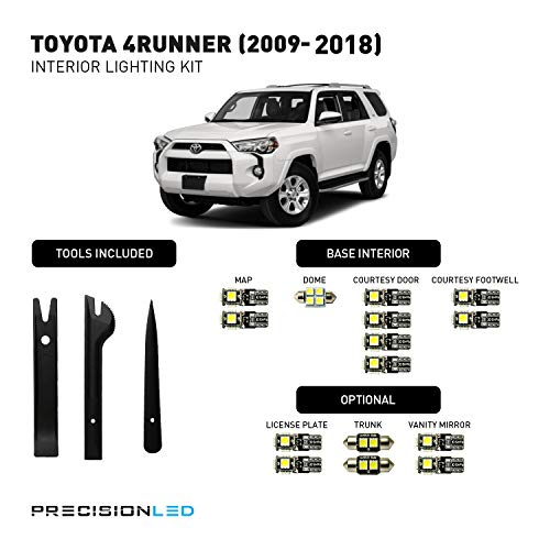 PrecisionLED 2009-2018 Toyota 4Runner LED Interior Lighting Kit with License Plate LED's & Install Tools (8000K)