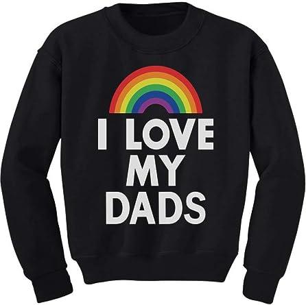 Kids I Love My Daddies T-Shirt Valentine/'s Day Gay Dads Pride LGBTQ Gift Top