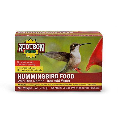 Audubon Park 1661 Hummingbird Food Nectar Powder, Contains (3) 3-Ounce Packets (Concentrate Hummingbird Nectar)