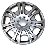 hyundai 14 wheel cover - TuningPros WSC-009S14 Hubcaps Wheel Skin Cover 14-Inches Silver Set of 4