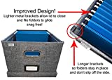 Collapsible File Box Storage Organizer with lid