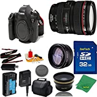 Great Value Bundle for 6D DSLR – 24-105MM L + 32GB Memory + Wide Angle + Telephoto Lens + Case