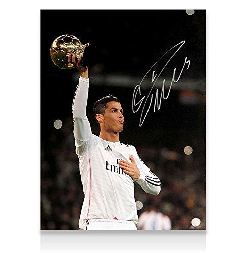 Cristiano Ronaldo Signed Real Madrid Photo - Ballon d