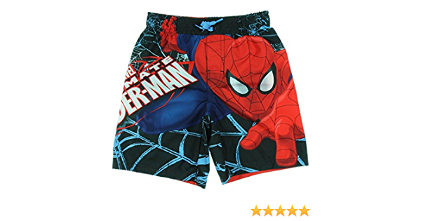 Marvel Spiderman Swim Trunk Swim Shorts for Boys SIZE SMALL 6//7