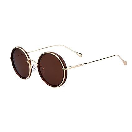 Peggy Gu Gafas de Sol Retro rimeldas Redondas Pequeñas Gafas polarizadas Protección Completa TR90 UV para