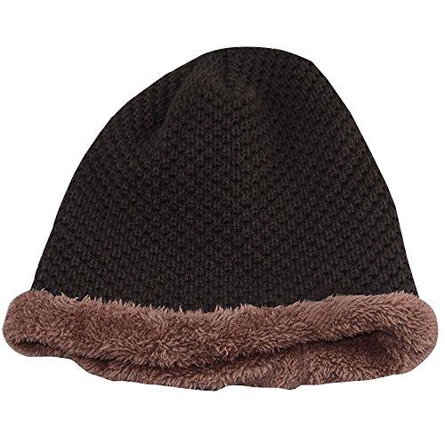 libre Sombrero otoño para hombre del del al caliente el grueso libre aire esquí del KINDOYO invierno el knit marrón y aire al qw6TpdqxZ