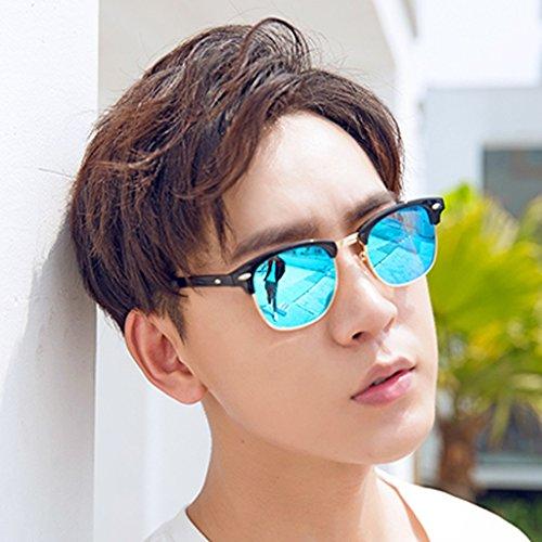 Green polarizados Sol Conductores los de YaNanHome Hombres Inconformista Coreano de Gafas Sol Gafas de Color Sol de Blue de Gafas Conducción qg1HFw