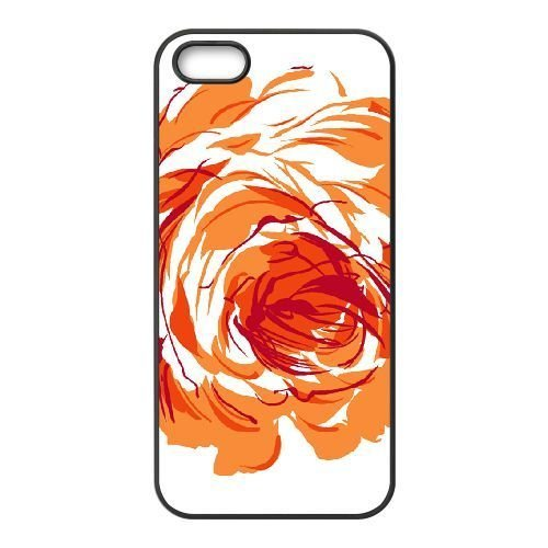 FDXGW674 iPhone 4 4s Cell Phone Case-black_Retro Flower (15)