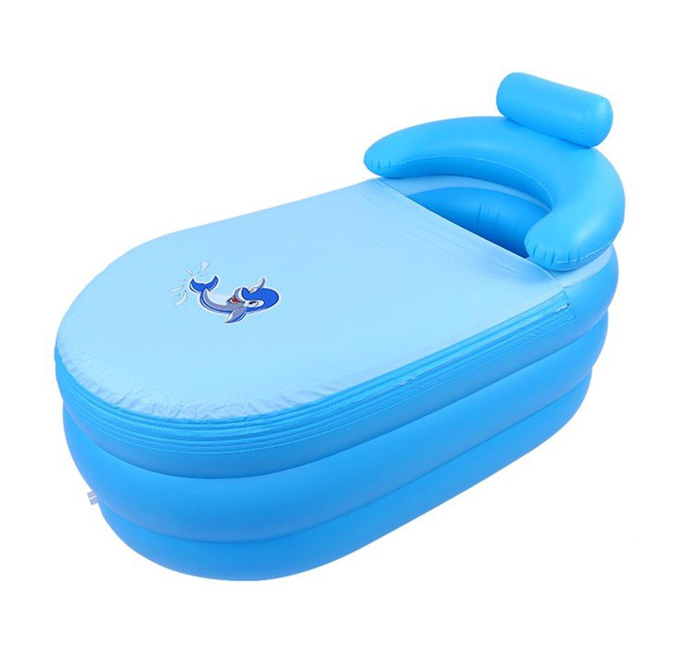 Inflatable Bathtub, Household Adult Bathtub Large/thick Bathtub, Bathtub Folding Swimming Pool/blue