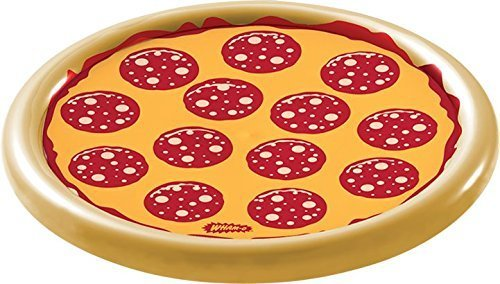 4 Season Wham-O Splash Pizza Inflatable Pool Float 8.3 x 7.5 x 2.3 inches Tan, Yellow and Red 1 pc by 4 Season