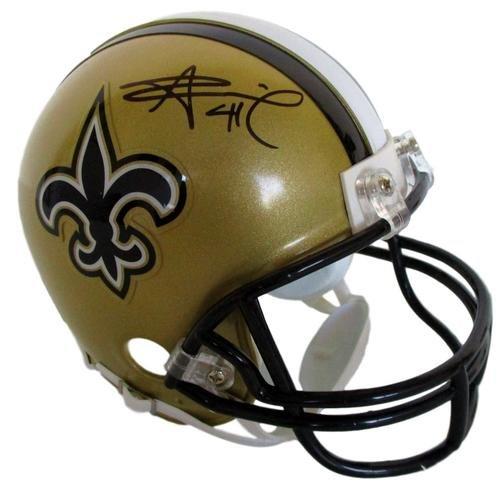 Alvin Kamara Signed Autographed New Orleans Saints Mini Helmet COA & (New Orleans Saints Signature Football)