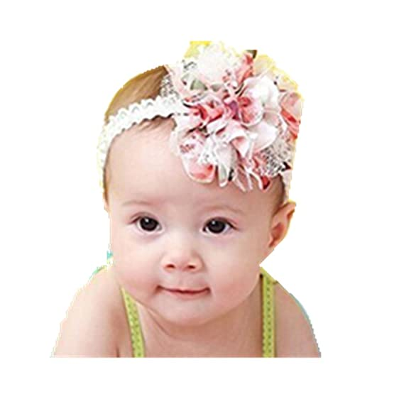 Amazon Start Baby Flower Headband Lace Infant Hair Weave