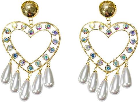 Fashion Women Crystal Pendant Necklace Chain Earrings Ring Retro Jewelry Set GA