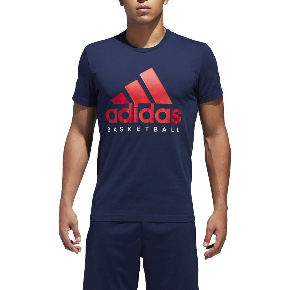 Collegiate Navy Svoiturelet blanc XX-grand adidas Basketball Graphic Tee