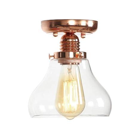 Ganeep Lámparas de Techo de Cristal de Oro Rosa Vintage para ...