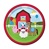 """Creative Converting Farmhouse Fun Sturdy Style Paper Lunch Plates (8 Count), 7"""""""