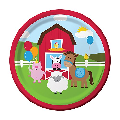 Creative Converting Farmhouse Fun Sturdy Style Paper Lunch Plates (8 Count), 7