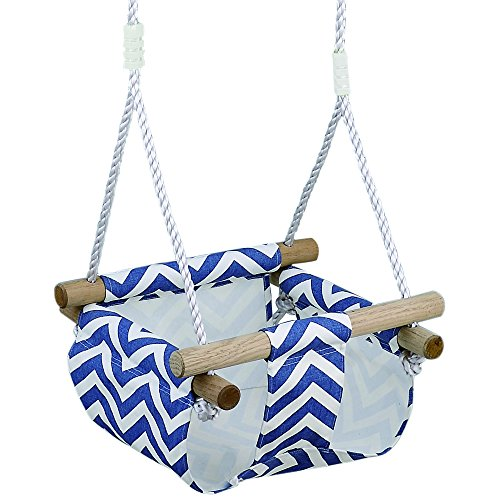 HappyPie Infant to Toddler Secure Hanging Swing Seat Indoor and Outdoor Hammock Toy (Blue) (Hanging Outdoor Swing)