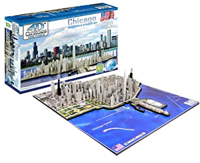 4d Chicago Cityscape Time Puzzle by 4D Cityscape