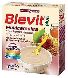 Blevit Plus Multicereales con Frutos Secos - Paquete de 2 x 300 gr - Total: 600 gr