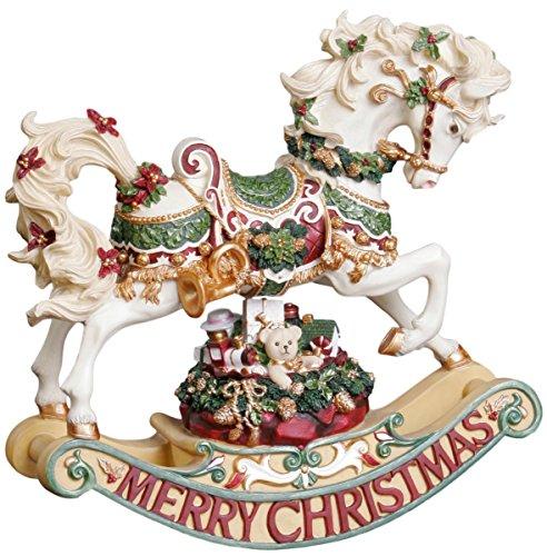THE SAN FRANCISCO MUSIC BOX COMPANY Christmas Rhapsody Rocking Horse Figurine (Horse Rocking Music Box)