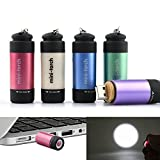 Jersh LED Mini Torch, Mini-Torch 0.3W 25Lum USB Rechargeable LED Torch Lamp Flashlight Keychain Waterproof Camping Outdoor Torch Portable Pocket Flashlight