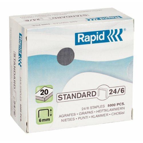 Rapid Heftklammer 24/6mm Standard, verzinkt, 5000Stück