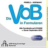 Die VOB in Formularen, CD-ROM Alle Formbriefe auf CD-ROM