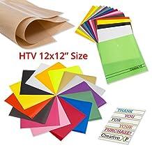 Heat Transfer Vinyl for T Shirts 15 Sheets 30x30 cm