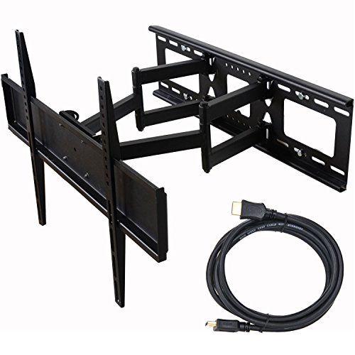 "Electronics : VideoSecu Tilt Swivel TV Wall Mount 32""- 70"" LCD LED Plasma TV with VESA 200x200,400x400,up to 600x400 mm, Full Motion Articulating Dual Arm Mount Fits up to 24"" Studs, Free HDMI Cable MW365B2H C20"