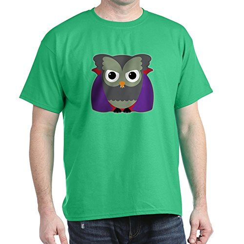 Truly Teague Dark T-Shirt Spooky Little Owl Vampire Monster - Kelly Green, XL -
