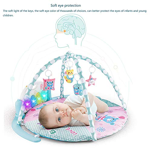 MCJL Remote Control Pedal Piano Early Childhood Education Rattle Music Carpet Fitness Rack Game Suitable for Newborns Born in Music and Lighting,Lion by MCJL (Image #3)