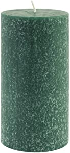 Root Candles 33669 Unscented Timberline Pillar Candle , 3 x 6-Inches, Dark Green