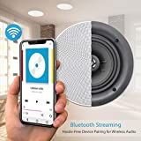 """Pyle 5.25"""" 4 Bluetooth Flush Mount In-wall"""