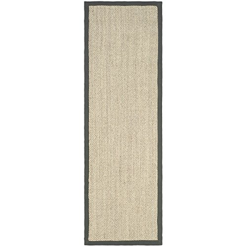 Safavieh Natural Fiber Collection NF443B Tiger Eye Marble and Grey Sisal Runner (2'6