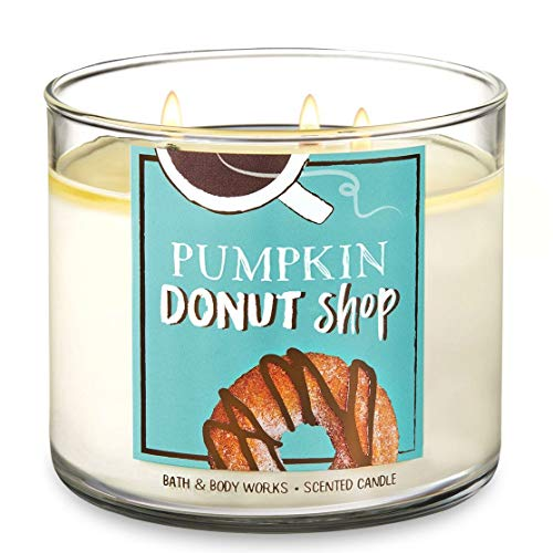 Bath and Body Works Pumpkin Donut Shop Candle - Large 14.5 Ounce 3-Wick Candle - Limited Edition Fall -