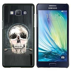 Qstar Arte & diseño plástico duro Fundas Cover Cubre Hard Case Cover para Samsung Galaxy A5 A5000 (Cráneo gótico del arte abstracto)