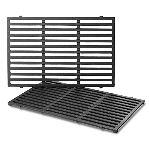 Weber 7638 Porcelain-Enameled Cast Iron Cooking Grates for Spirit 300 Series Gas Grills (17.5 x 11.9 x 0.5)