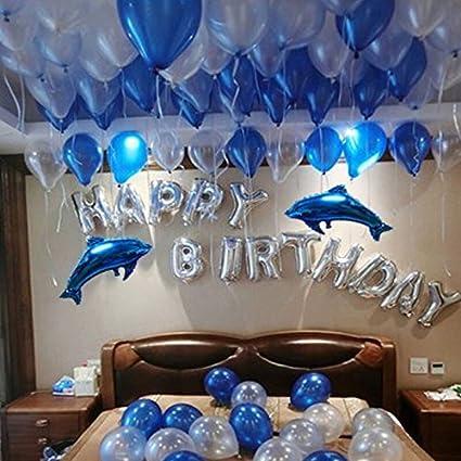 Amazon.com: luffar lindo letras del alfabeto globos Happy ...
