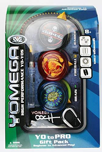 Yomega 3 Piece Gift Set – Including The Brain, Fireball and Raider Yoyos (Colors May Vary)