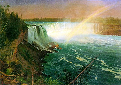 The Museum Outlet - Niagra Falls by Bierstadt, Stretched Canvas Gallery Wrapped. - Outlet Niagra
