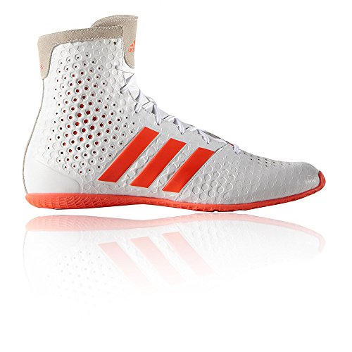 adidas KO Legend 16.1 Mens Boxing Trainer Shoe Boot White/Red - US 12.5