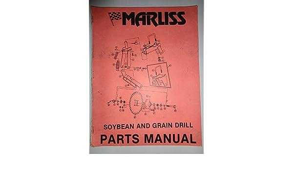 Marliss Soybean And Grain Drill Parts Catalog Book Manual 4