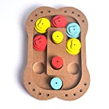 YAAGLE Pet Interactive Hide and Seek Food Slow Feeder IQ Treat Dispensing Wooden Toy for Dogs and Cats