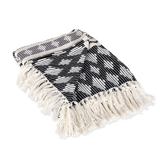 DII Classic Colby Southwest Cotton Stripe Blanket Throw with Fringe for Chair, Couch, Picnic, Camping, Beach, -  - blankets-throws, bedroom-sheets-comforters, bedroom - 51jSTk%2BJTiL. SS570  -