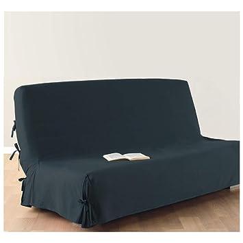 Housse de canapé clic-clac - 100 % coton - Coloris BLEU GRIS: Amazon ...