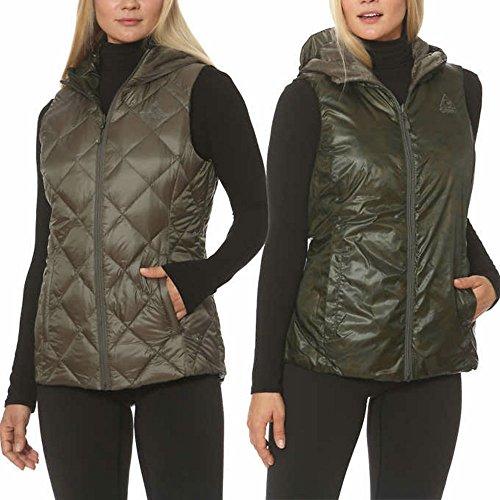 Gerry Ladies' Reversible Down Vest (XXL, (Nylon Print Vest)